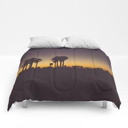 Venice Beach Sunset II Comforters