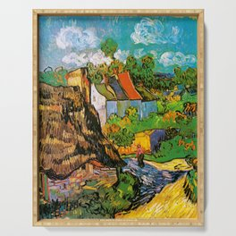 Vincent Van Gogh - House in Auvers Serving Tray