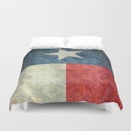 Texas flag, Retro style Vertical Banner Duvet Cover