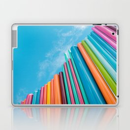 Colorful Rainbow Pipes Against Blue Sky Laptop & iPad Skin