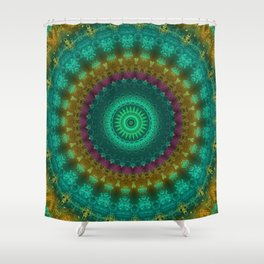 FineLine Mandala 3 Shower Curtain