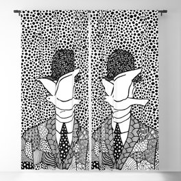 Magritte - Man in a bowler hat Blackout Curtain