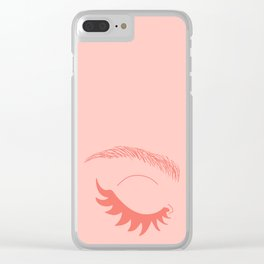 Betty Gone Batty (Coral on Millennial Pink Edition) Clear iPhone Case