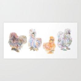 Silkie Art Prints | Society6
