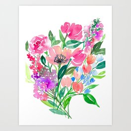 Loose Wildflower Bouquet P1 Art Print