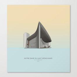 Ronchamp Chapel Le Corbusier Canvas Print