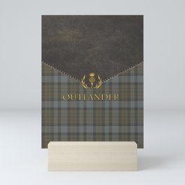 TARTAN LEATHER OUTLANDER Mini Art Print