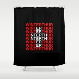 WINTERTHUR Swiss Flag Shower Curtain