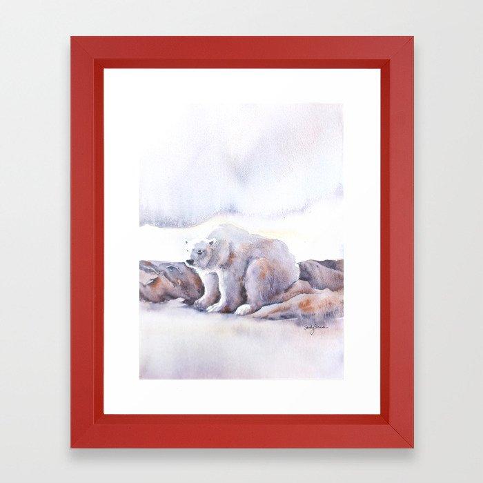 Polar Wait Framed Art Print