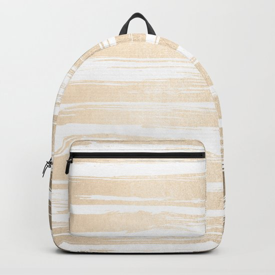 White Gold Sands Painted Stripes Backpack