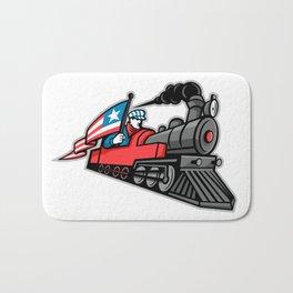 American Steam Locomotive Mascot Bath Mat