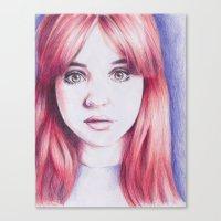 karen hallion Canvas Prints featuring karen ii by Jill Schell