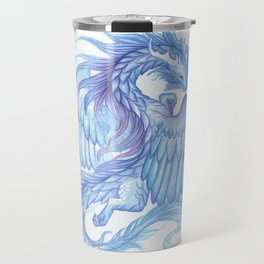 A dragon with a book Travel Mug