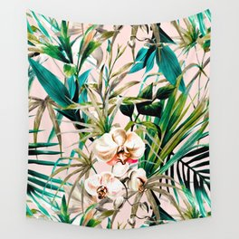 Pattern floral tropical 001 Wall Tapestry