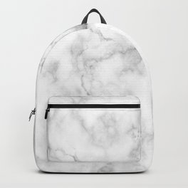 Grey and white marble Backpack