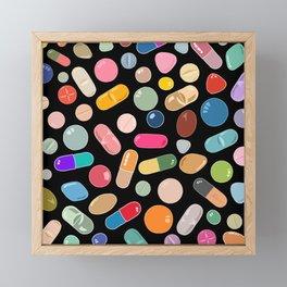Unicorn Vitamins Framed Mini Art Print