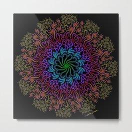 Splendid Spotted Swirls Metal Print