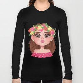 The Head of a Slavic Girl Long Sleeve T-shirt