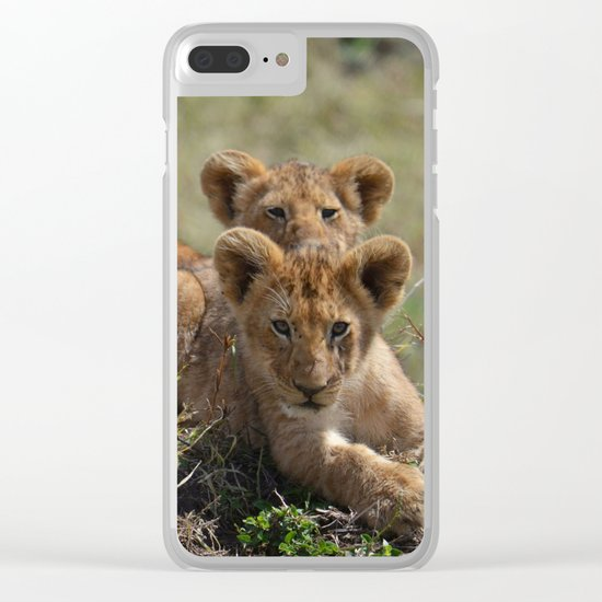 Two lion Clubs At Play Clear iPhone Case