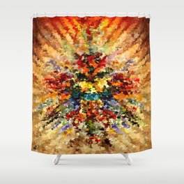 modern composition 10 by rafi talby Shower Curtain