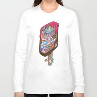 icecream Long Sleeve T-shirts featuring Icecream pop by makapa