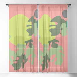 Retro jungle Sheer Curtain