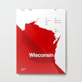 Wisconsin Stats Metal Print