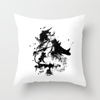 cello Throw Pillows featuring Cello by juliagingras