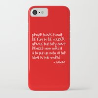 hobbes iPhone & iPod Cases featuring Calvin and Hobbes quote by Dustin Hall