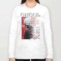 tokyo ghoul Long Sleeve T-shirts featuring Kaneki Ken - Ghoul by 666HUGHES