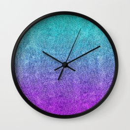 Tropical Twilight Glitter Gradient Wall Clock
