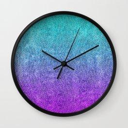 Tropical Twilight Glitter Gradient Wall Clock