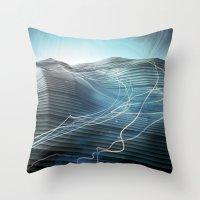 journey Throw Pillows featuring Journey by Jason Linn