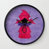 conan Wall Clocks featuring A Boy - Orko by Christophe Chiozzi