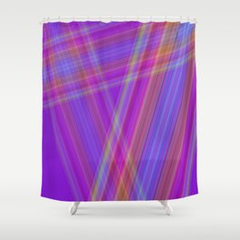 Multicolored lines Shower Curtain