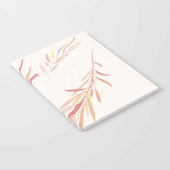 Eucalyptus Leaves Pink Notebook