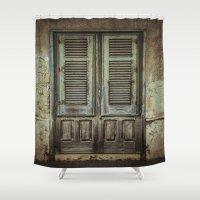 italian Shower Curtains featuring Italian Door III by Maria Heyens