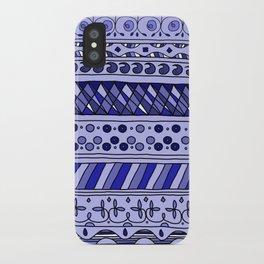 Yzor pattern 002 blue iPhone Case