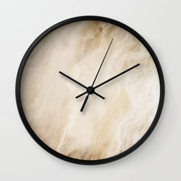 Brown Turquiose Marble texture Wall Clock