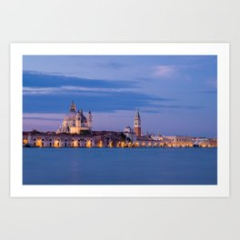 Venice: at night Art Print