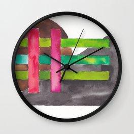 180819 Geometrical Watercolour 7 Wall Clock