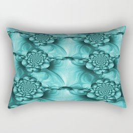 Teal Shimmer #2 Rectangular Pillow
