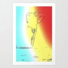 Woman Emerging (f) Art Print