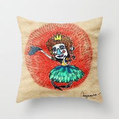 Ugly princess is looking for love Throw Pillow
