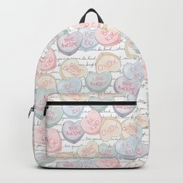 Valentine Hearts in Pastels Backpack