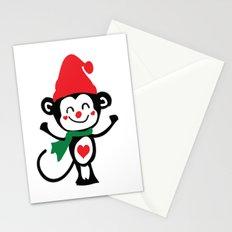 Little Monkey Santa Claus Stationery Cards