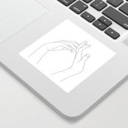 Hands line drawing illustration - Abi Sticker