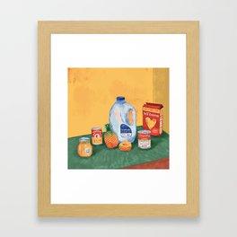 Meals For Success Framed Art Print