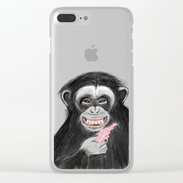 monkey with watergun L Clear iPhone Case