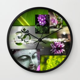 Buddha & Chakra Zen Collage Wall Clock